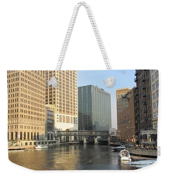 Milwaukee River Theater District 3 Weekender Tote Bag