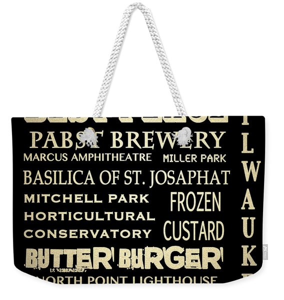 Milwaukee Wisconsin Famous Landmarks Weekender Tote Bag
