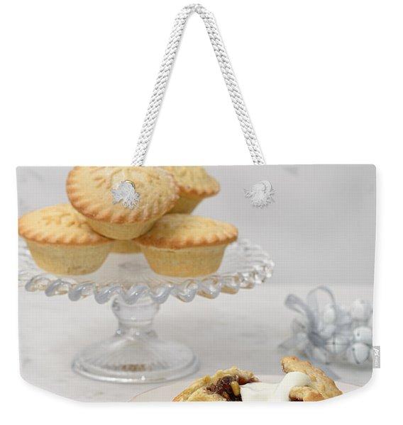 Mince Pies With Cream Weekender Tote Bag