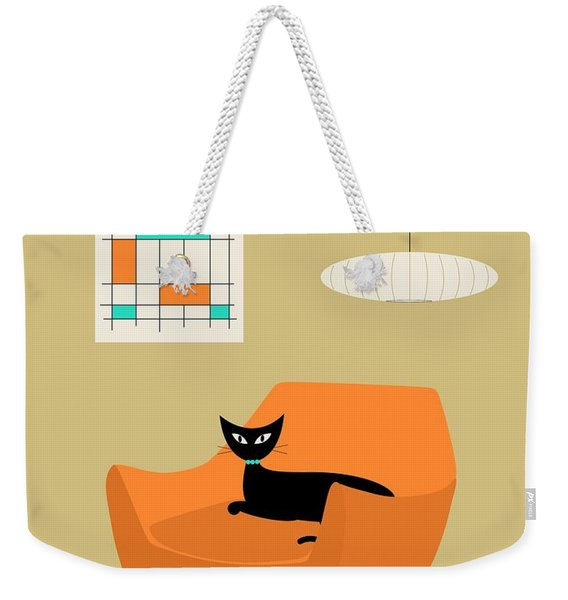 Mini Abstract With Orange Chair Weekender Tote Bag