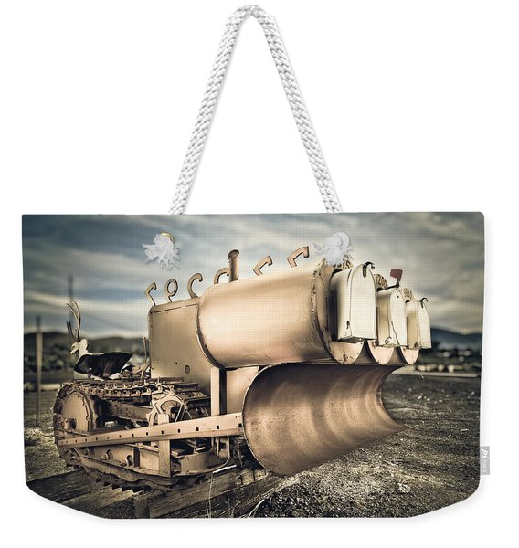 Mini Excavator Mailbox Weekender Tote Bag