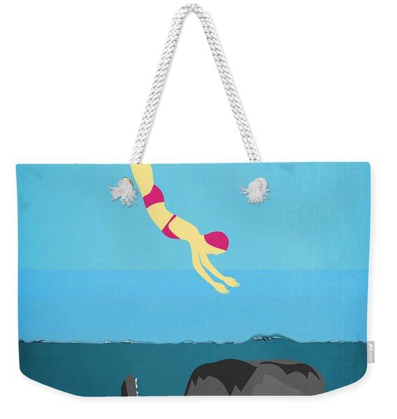 Minimal Sea Life  Weekender Tote Bag