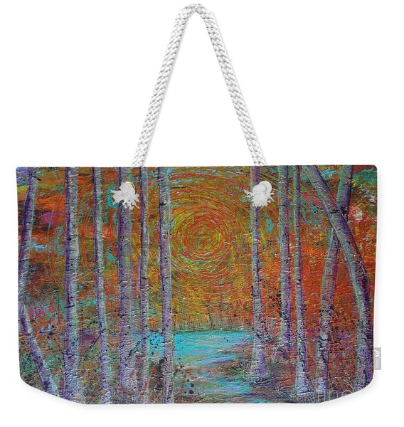 Weekender Tote Bag featuring the painting Minnesota Sunset by Jacqueline Athmann