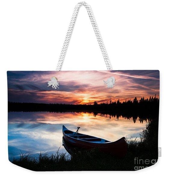 Minnesota Sunset Weekender Tote Bag
