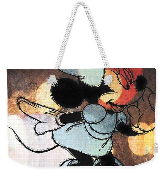 Minnie Mouse Sketchy Weekender Tote Bag