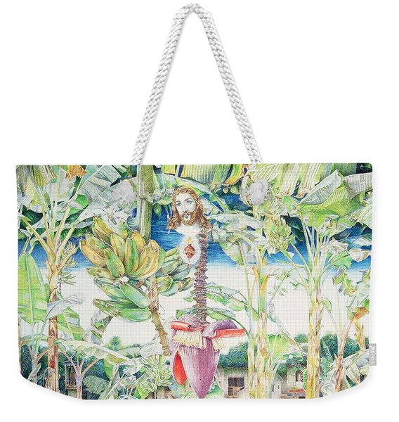 Miraculous Vision Of Christ In The Banana Grove, 1989 Oil On Canvas Weekender Tote Bag
