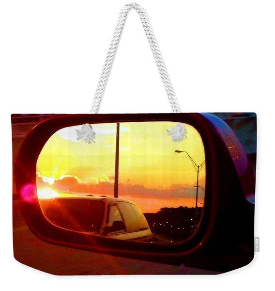 Mirror Sunset Weekender Tote Bag