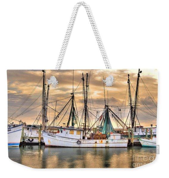 Miss Hale Shrimp Boat Weekender Tote Bag
