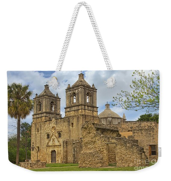 Weekender Tote Bag featuring the photograph Mission Concepcion by Jemmy Archer