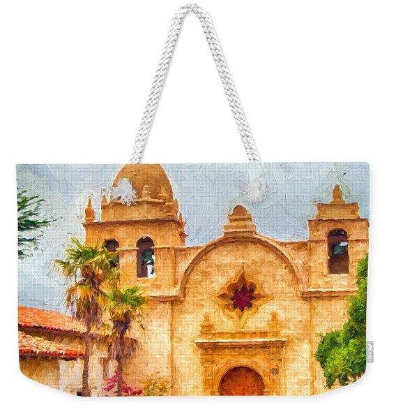 Mission San Carlos Borromeo De Carmelo Impasto Style Weekender Tote Bag