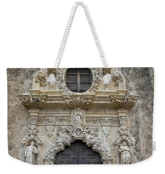 Weekender Tote Bag featuring the photograph Mission San Jose Doorway by Jemmy Archer