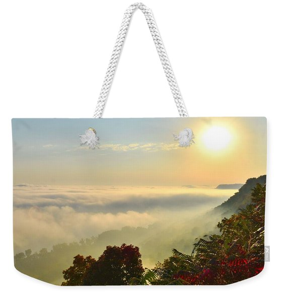 Mississippi River Fog Weekender Tote Bag