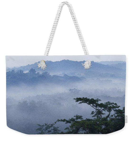 Mist Over Tropical Rainforest Kibale Np Weekender Tote Bag