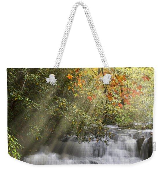 Misty Falls At Coker Creek Weekender Tote Bag