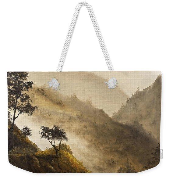 Misty Hills Weekender Tote Bag