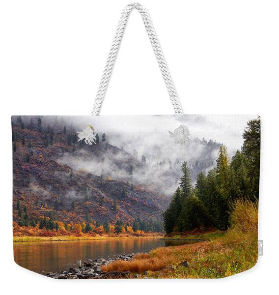 Misty Montana Morning Weekender Tote Bag