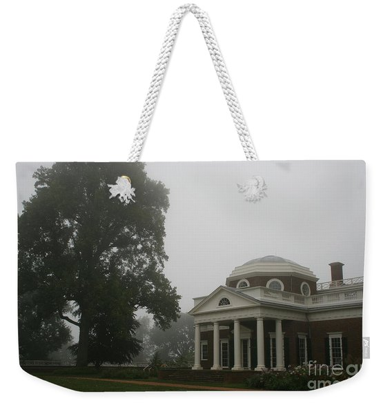 Misty Morning At Monticello Weekender Tote Bag