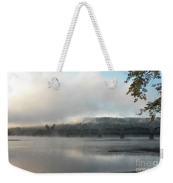 Misty Railway Bridge Weekender Tote Bag