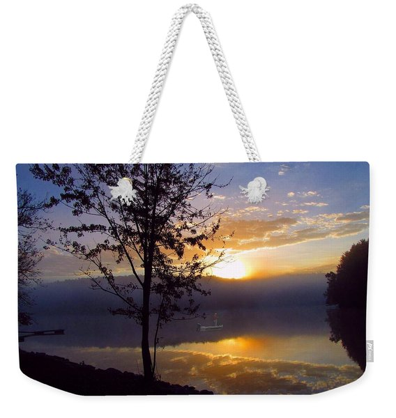 Misty Reflections Weekender Tote Bag
