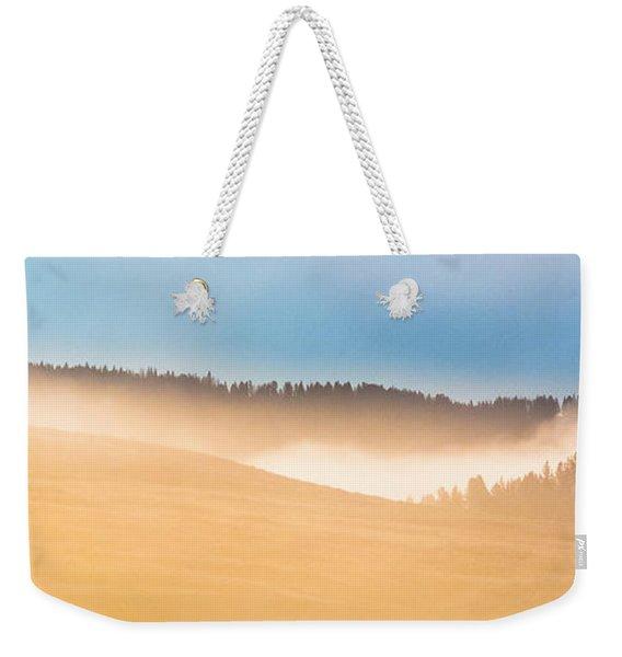 Misty Yellowstone   Weekender Tote Bag