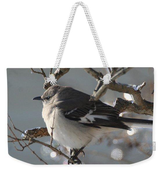 Mockingbird In Winter Weekender Tote Bag