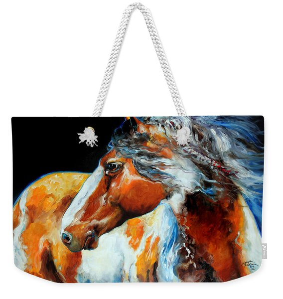 Mohican The Indian War Pony Weekender Tote Bag