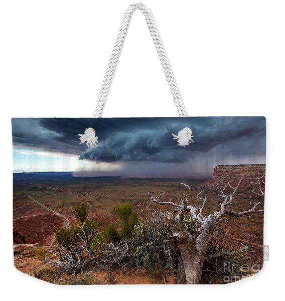 Moki Dugway Thunderstorm - Southern Utah Weekender Tote Bag