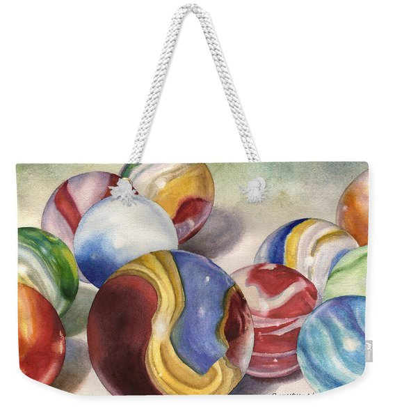 Mom's Marble Shooter Weekender Tote Bag