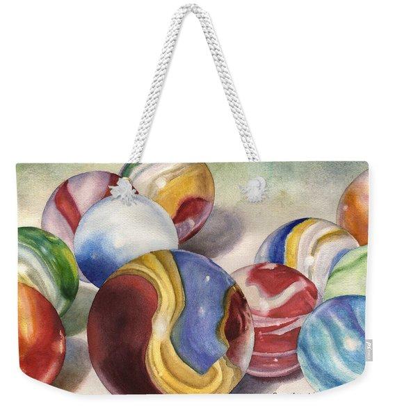 Mom's Marble Shooter Weekender Tote Bag