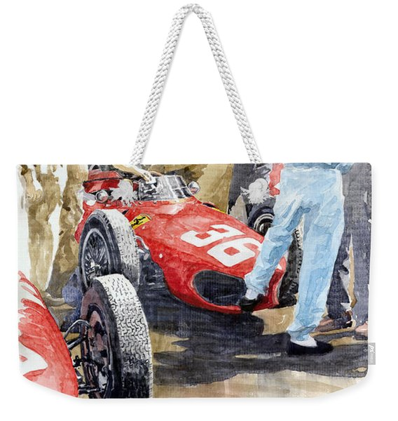 Monaco Gp 1961 Ferrari 156 Sharknose Richie Ginther Weekender Tote Bag