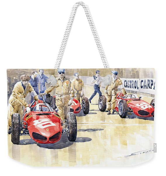 Monaco Gp 1961 Ferrari 156 Sharknose  Weekender Tote Bag