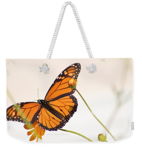 Monarch Butterfly In Flight Weekender Tote Bag