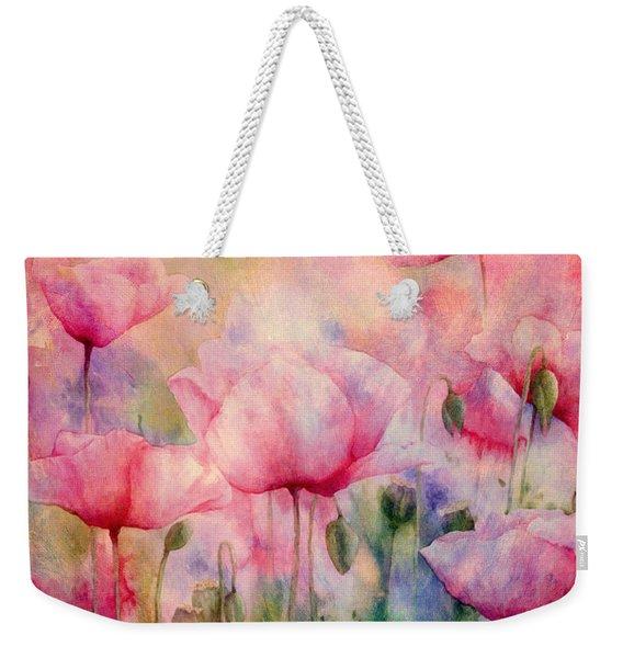 Monet's Poppies Vintage Warmth Weekender Tote Bag