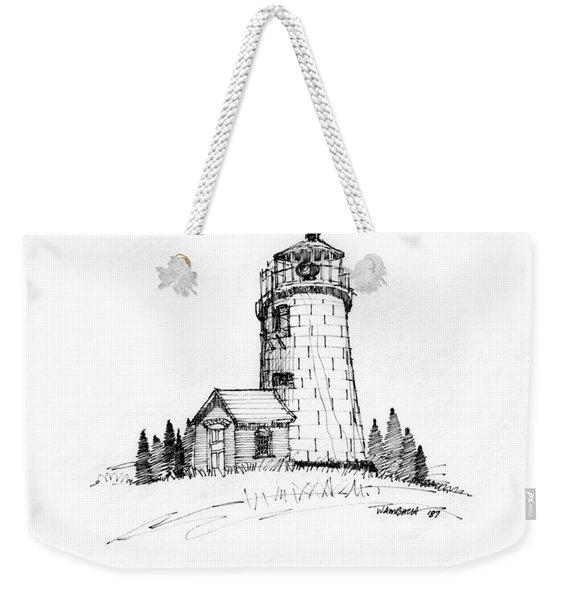 Monhegan Lighthouse 1987 Weekender Tote Bag