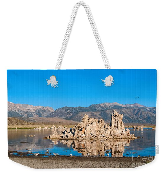 Mono Morning - Strange Tufa Towers Of Mono Lake In California. Weekender Tote Bag