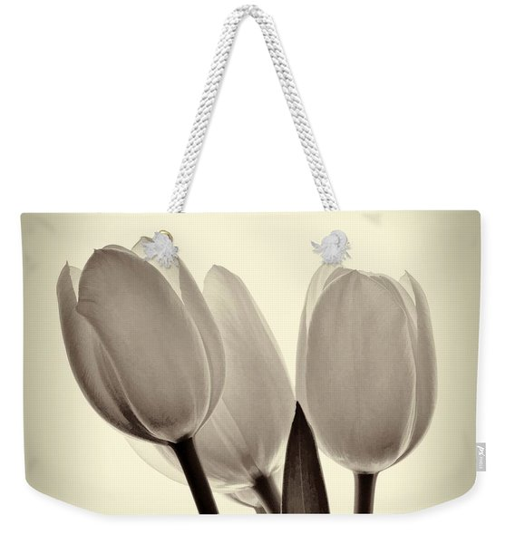 Monochrome Tulips With Vignette Weekender Tote Bag