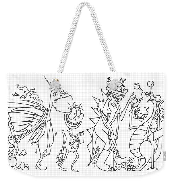 Monster  Queue Weekender Tote Bag