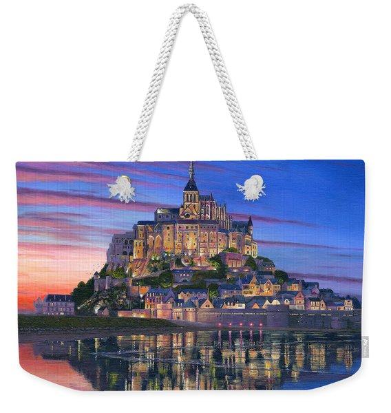 Mont Saint-michel Soir Weekender Tote Bag
