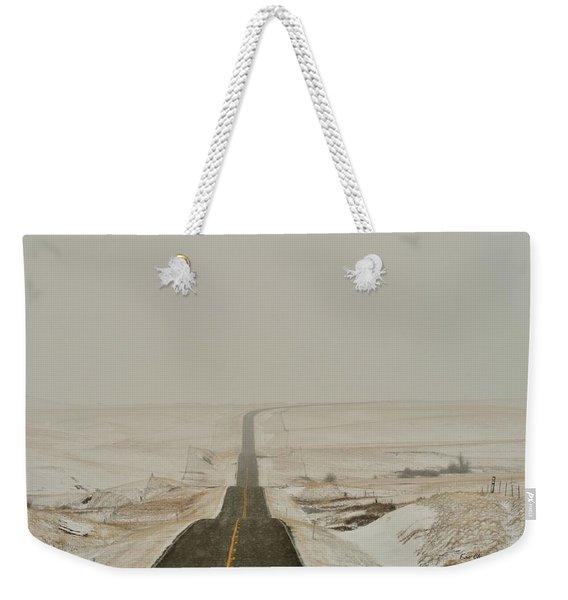 Montana Highway 3 Weekender Tote Bag