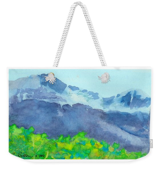 Montana Mountain Mist Weekender Tote Bag