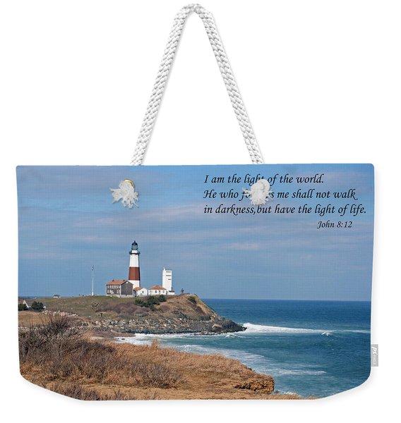 Montauk Lighthouse/camp Hero/inspirational Weekender Tote Bag