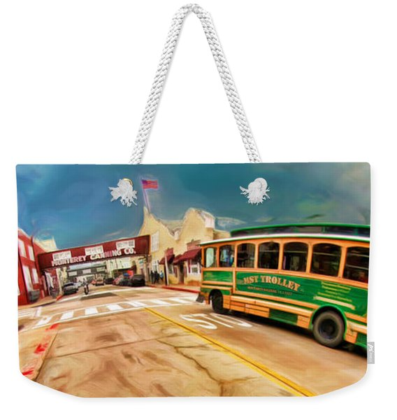 Monterey And Cable Car Bus Weekender Tote Bag