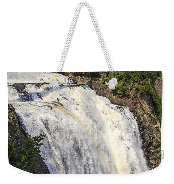 Montmorency Falls Park Quebec City Canada Weekender Tote Bag
