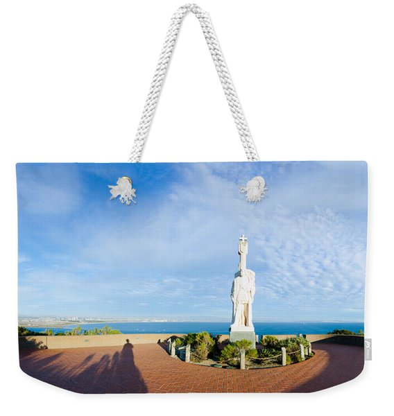 Monument On The Coast, Cabrillo Weekender Tote Bag