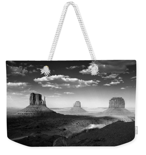 Monument Valley In Black And White Weekender Tote Bag