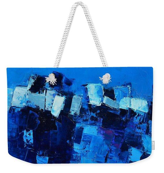 Mood In Blue Weekender Tote Bag