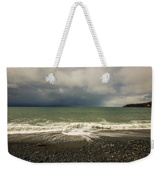 Moody Swirl French Beach Weekender Tote Bag
