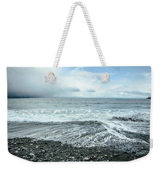 Moody Waves French Beach Weekender Tote Bag