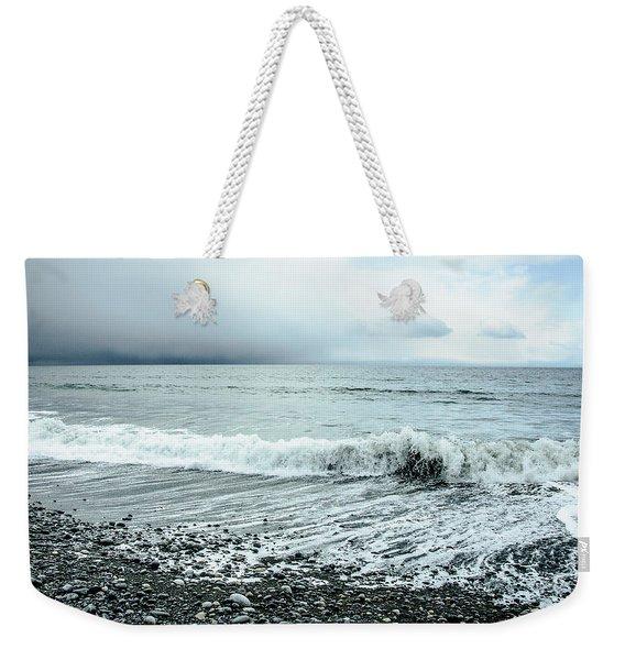 Moody Shoreline French Beach Weekender Tote Bag