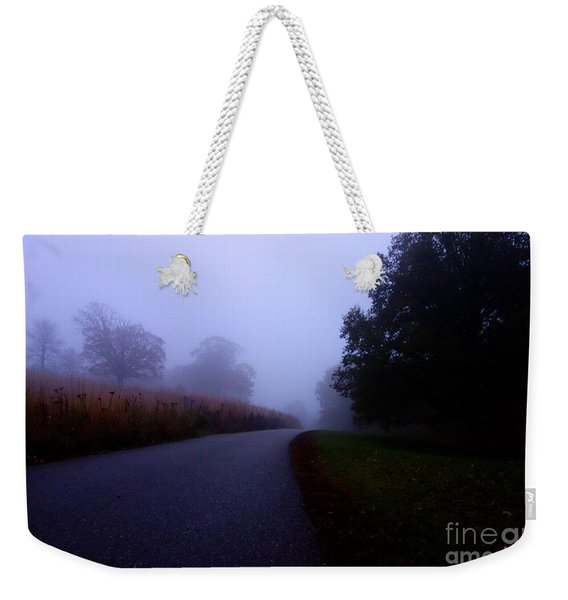Moody Autumn Pathway Weekender Tote Bag
